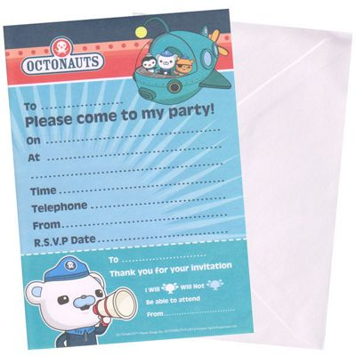 Buy Octonauts Party Invitation Sheets 20pk from our All Party