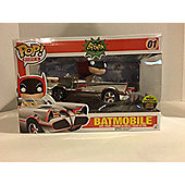 Pop! Rides: 1966 Chrome Batman Classic Tv Series - Batmobile Sdcc 2016 Exclusive #01 Vinyl Figure