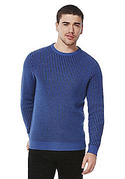 F&F Waffle Knit Jumper - Blue