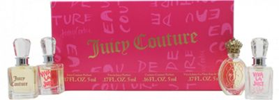 Juicy Couture Gift Set 4 x 5ml Mini - Juicy Couture EDP + Viva La Juicy EDT + Viva La Juicy EDP + Couture Couture EDP For Women