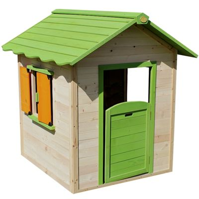 Chestnut Hut Painted Wooden Playhouse with Floor Included
