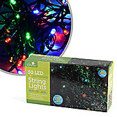 Solar Powered 50 LED Multi-Coloured String Lights