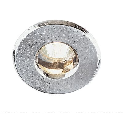 Out Downlight Round Chrome Brushed Max. 35W Aluminium Recessed Ring