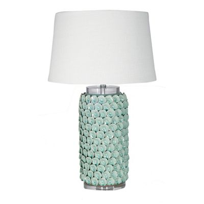 Porcelain Vase Table Lamp with Crystal Base