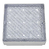 LED RECESSED INDOOR & OUTDOOR WALKOVER CLEAR SMALL SQUARE - WHITE LED