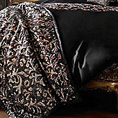 Kylie Minogue 'Lazzaro' Black and Copper Sequin Throw, 120 x 220 cm