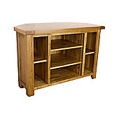 Rustic Solid Oak - Oak Corner TV Unit / Oak TV Stand