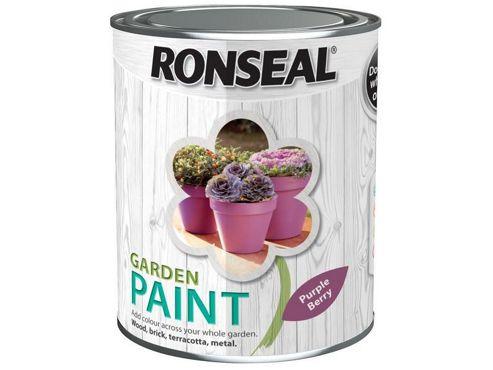 Ronseal RSLGPPB25L 2.5 Litre Garden Paint - Purple Berry