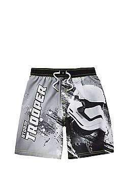 Star Wars Stormtrooper Print Swim Shorts - Grey & Multi