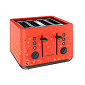 Morphy Richards 248106 4 Slice Toaster, with 1800W, and Variable Browning Control, in Orange