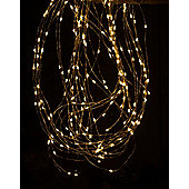 Copper Wire Branch Christmas Light - Amber Led - 200 cm