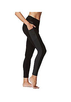 Flattering Ladies Slimming Leggings with Side Pockets - Black