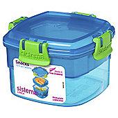 Sistema Blue Snacks To Go Lunch Box
