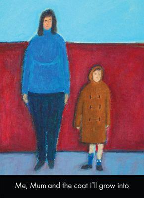 Holy Mackerel Me, Mum and the coat I'll Grow Into Greetings Card