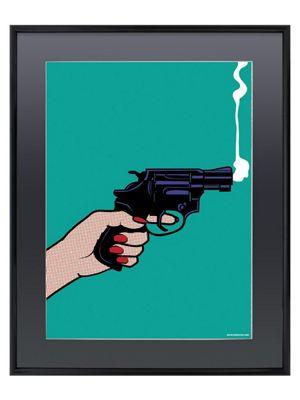 A Sideways Shot Gloss Black Framed Mini Poster 40x50cm