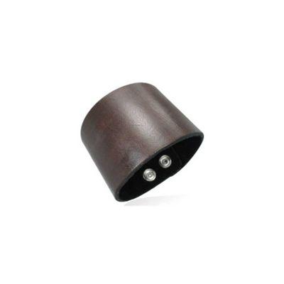 Urban Male Plain Men's Brown Leather Cuff Bracelet 50mm