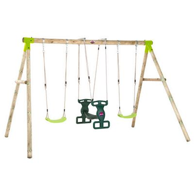 Plum Vervet® Wooden Garden Swing Set