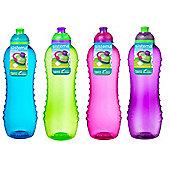 4 Sistema Twist 'n' Sip Drink Bottles, 620ml