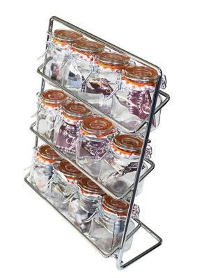 Hahn 12 Jar Spice Rack with Kilner Jars Included
