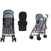 Obaby Atlas Stroller/Mosquito Net/Footmuff/Raincover - Scooter