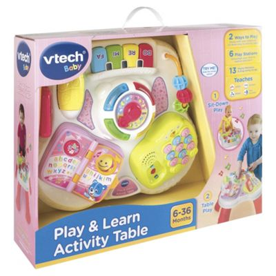 Vtech Baby Play U0026 Learn Activity Table   Pink