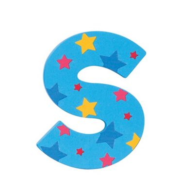 Bigjigs Toys Star Letter S (Blue)