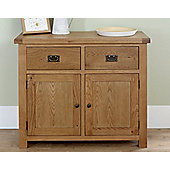 Worcester - Oak Sideboard / Small 2 Drawer 2 Door Storage Unit