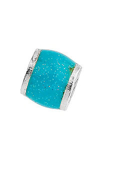 Amore & Baci Junior Pale Blue Glitter Candy Wide Bead