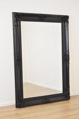 Beautiful Large Black Decorative Ornate Wall Mirror 6Ft X 4Ft (183 X 122Cm)