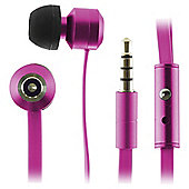 Kitsound Ribbons Earphones With Microphone Pink