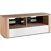 Alphason Hugo 1260 TV Stand for TVs up to 60 inch - Light Oak and White