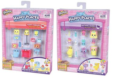 Shopkins Decorator Pack Bundle - Puppy Parlour and Bathing Bunny - 2 Items Supplied