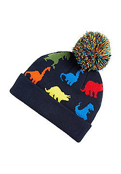 F&F Dinosaur Bobble Hat - Navy & Multi