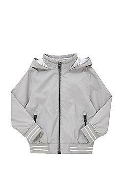 F&F Hooded Bomber Jacket - Grey
