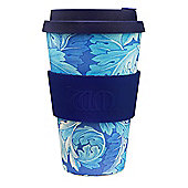Ecoffee Cup & William Morris Acanthus with Deep Blue Silicone 14oz