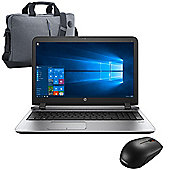 "HP ProBook 450 G3 15.6"" Laptop Intel Core i5-6200U 8GB 256GB SSD with Mouse & Case - 2SY41ES#ABU"