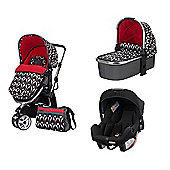 Obaby Chase 3 In 1 Travel System/Footmuff/Mosquito Net/Bag - Eclipse