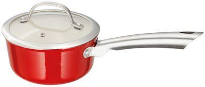 Stellar Multi-Layered Easy Lift Saucepan Pan in Red 16cm
