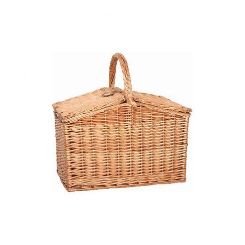 Wicker Valley Willow Rectangular 2 Lid Picnic Basket