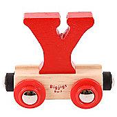 Bigjigs Rail Rail Name Letter Y (Red)