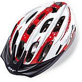 SH+ Pulse Helmet: Red/White/Silver S/M.