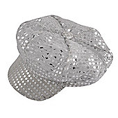 Adult 70's Silver Sequin Disco Hat Fancy Dress Accessory
