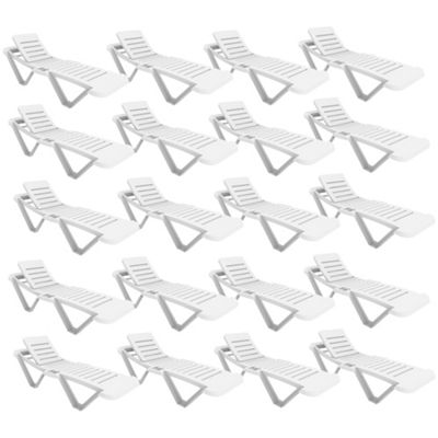 Resol White Sun Lounger - (Pack of 20 Sun Loungers)