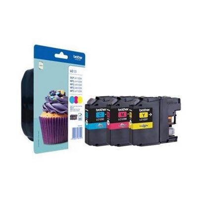 Brother LC123 Cyan, Magenta, Yellow Ink Cartridges Pack