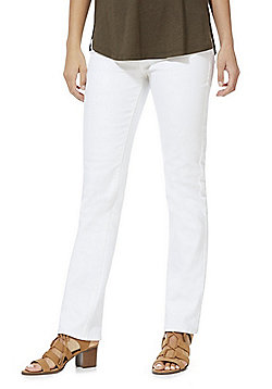 F&F Mid Rise Slim Fit Jeans - White