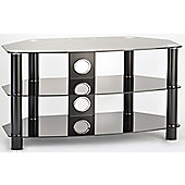 ValuFurniture Vantage 1200 Black Glass TV Stand