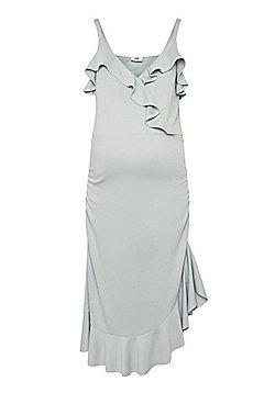 Mamalicious Ruffle Trim Maternity Dress - Mint green