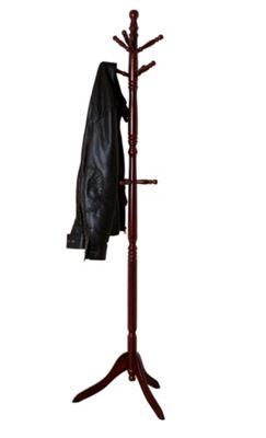 Cleo Wooden Coat Tree - Mahogany