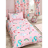 I Believe In Unicorns 4 In 1 Junior Bedding Bundle Set (Duvet, Pillow And Covers)