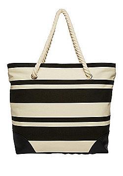 F&F Striped Canvas Tote Bag